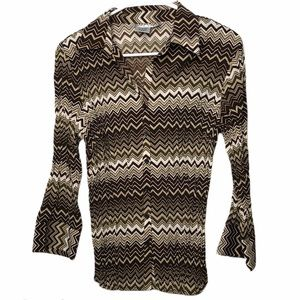 Fred David Stretch Accordion Style Button UP TOP